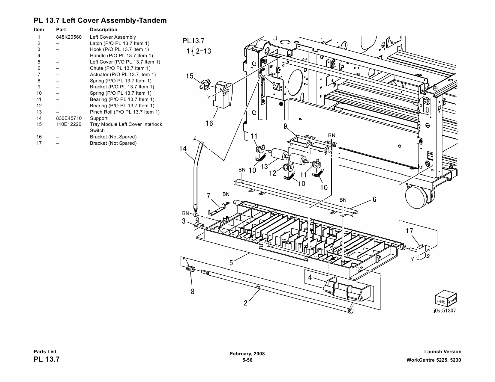 Xerox WorkCentre 5225 5230 Parts List Manual